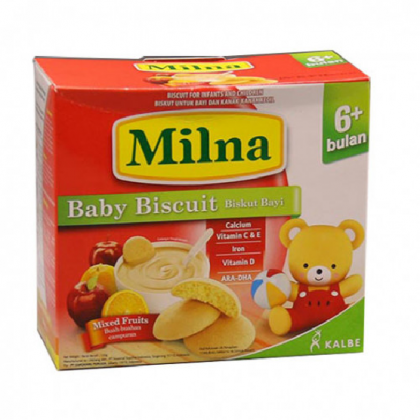 Milna Rusk Mixed Fruits 130g