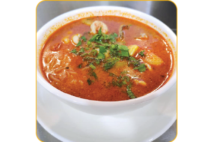 TOM YAM SOUP NOODLE (CHICKEN)