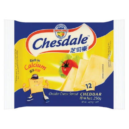 Chesdale Cheddar Cheese 12s 250g